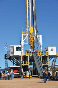 SCANDRILL completed its newest rig, the Scan Vision, in January 2015. The rig features a bi-fuel system and a walking system and was built under contract to Anadarko.