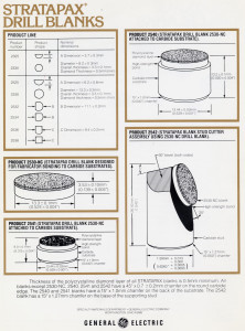 Figure 2: GE's Stratapax cutters had an improved substrate (1974-1976).