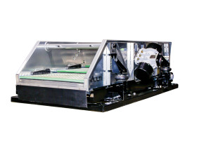 """Fluid Systems' MultiG shaker, launched at the 2015 OTC, can exert up to 50 G's on the drilling mud through multi-frequency vibrations. The shaker achieves the high variable speeds through """"exciter"""" weights, adopted from the mining industry, that multiply force onto the shaker screen panel."""