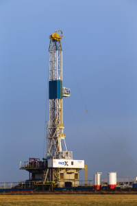 The Nabors PACE-X rig #X-05 drills in Yoakum, Texas, in the Eagle Ford. Nabors has focused on improving between-pad move times for its PACE-X rigs. Through changes to its trucking plans, the company has been able to move these rigs from one pad to another in as little as 2.5 days.