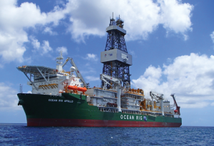 The Ocean Rig Apollo is on contract with Total to drill in the Congo. Delivered in 2015, the drillship is designed to operate in up to 12,000 ft of water and has a maximum drilling depth of 40,000 ft. The rig is on contract until 2018, with an option to extend until 2020.