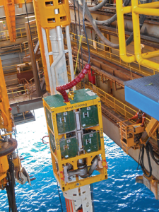 EC-Drill's subsea pump module is deployed in the US Gulf of Mexico. The pump is attached to a modified riser joint, which sits in the riser string. The joint can be installed on the rig while it is operational. Overall, the system takes between two to four weeks to install. Once installed, the subsea pump can be deployed in 60-90 minutes.