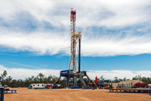 Easternwell's Ideal Prime Rig 106 was deployed to the Surat Basin by the Queensland Gas Company last year to begin a two-year exploration and appraisal program. The rig was built to drill tight-gas projects. It has a VFD AC Drive and was modified to move the drawworks from the ground onto the rig floor to facilitate walking operations. The rig floor was also increased to 28 ft to accommodate extra BOP equipment if required.