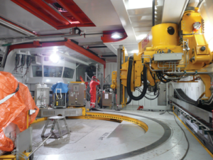 The precisely controlled manipulators that deliver unprecedented positioning accuracy for continuous pipe welding during pipelay, developed by SMST, a Huisman company, helped lay the foundation for the precise sensors engineered into the robust manipulators used to handle 180-ft stands of pipe.