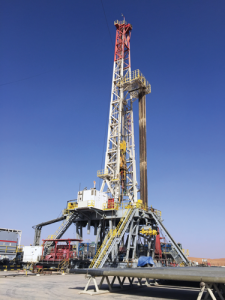 Oxy operates a FlexRig at the Safah North B 38H conventional horizontal well in Oman.