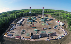 Precision Rigs 570 and 571 are drilling in Canada's Duvernay. The Super Triple rigs are part of the company's remaining fleet of 254 high-spec rigs, after retiring 79 non-AC rigs in 2015.
