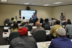 Randy Smith, Founder of Smith Mason & Co, facilitates a well control seminar for field operations staff with the Texas Railroad Commission on 25 May in Austin, Texas.