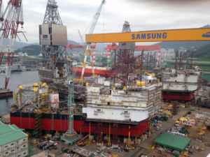 Two of Statoil's Cat J jackups, the Askepott and Askeladden, are under construction at Samsung Heavy Industries' yard in South Korea. When finished, they will be mobilized to the Gullfaks and Oseberg fields.