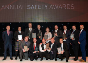 The IADC North Sea Chapter held its Annual Safety Awards on 22 April in Aberdeen. Back row from left are: Ivor McBean, Diamond Offshore Drilling (NSC Co-Chair); Alistair McDonald, Odfjell Drilling; Ole Maier, Odfjell Drilling; Henrik Hundebol, Maersk Drilling; Ann Johnson, Blaze Manufacturing Solutions; Ally Malcolm, Awilco Drilling; Julian Hall, Ensco; Jools Coghill, Ensco; and Gary Holman, Awilco Drilling (NSC Co-Chair). Front row from left are: Matt Brodie, Noble Drilling; Stuart Sutherland, KCA Deutag; Geoff Polson, Stena Drilling; Iain Mitchell, Stena Drilling, and Ray Taylor, Archer.