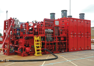 Halliburton's AdvantageOne deepwater cementing unit includes a six-pump liquid additive system with an automated metering and pumping unit. The system can be run from anywhere on the rig.