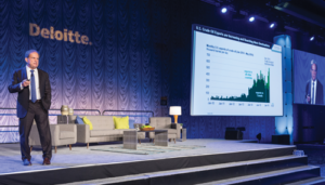 "Pioneer Natural Resources CEO Scott Sheffield called the Permian ""the future of US shale"" at the Deloitte Oil & Gas Conference on 21 September in Houston. Photo Courtesy of Deloitte."
