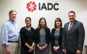 IADC, along with representatives from NIST/NCCoE and USCG, among others, have launched development of a new Cybersecurity Framework Profile for MODUs. From left are David Weitzel, NIST/NCCoE; Melissa Mejias, IADC; Siv Hilde Houmb, Secure-NOK & Chairwoman of the IADC Cybersecurity Subcommittee; Julie Snyder, NIST/NCCoE; and Jason Warren, USCG.