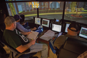 Diamond Offshore's Ocean Technology Center opened its doors in 2013. It is a simulation and training hub that houses drilling, crane and stability simulation packages.