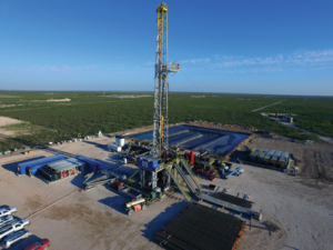 Independence Contract Drilling's ShaleDriller 210 rig drills for Pioneer Natural Resources. This rig series features 7,500-psi mud pumps, bi-fuel capabilities and walking systems. When the rig market bottomed out in May 2016, the contractor had only four out of 14 rigs working. Now, it has all 14 of its rigs working, with several each in the Permian and Haynesville plays. With a fleet utilization of 100% and an increasing demand for rigs, the contractor said it could potentially consider ordering newbuilds later this year.