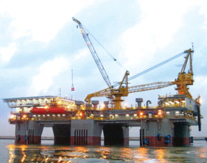Sapura Energy has developed a lightweight drilling package for a long-term plug and abandonment (P&A) campaign. The package, under construction in Italy, will be deployed in conjunction with the SKD Alliance semi-tender unit (pictured). Reducing the weight of the drilling package was key as existing rigs were found to be too heavy for the aging platforms.