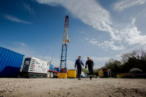 Well maintenance is conducted at Folly Farm, one of IGas' conventional drill sites.