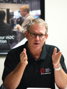 Mark Denkowski, IADC Executive VP of Operational Integrity, leads a meeting on 27 January in Houston to discuss the development of a new accreditation program for enhanced well control training that emphasizes human factors and enhanced simulation-based exercises.