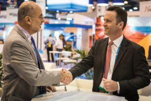 IADC President Jason McFarland (right) signed a memorandum of understanding (MOU) with Milton Costa Filho, Secretary-General of Brazil's IBP, at the 2017 OTC in Houston in early May. The MOU established a framework through which the organizations will cooperate and collaborate to foster education and communication within the upstream oil and gas industry in Brazil.