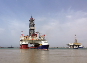Caspian Drilling Company took delivery of the Heydar Aliyev semisubmersible in May 2017. The rig will work on the Absheron gas and condensate field in the Caspian Sea, which is operated by TOTAL in partnership with SOCAR. Work is expected to begin by year-end. The rig is equipped with a dual-gradient riserless mud recovery system and BOP handling equipment rated to 20,000 psi. A knuckle boom-type crane was also included to deal with high winds.
