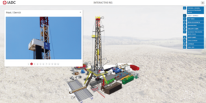 Drilling Matters' enhanced Interactive Rig feature displays narrated videos about selected rig components that users can click on.