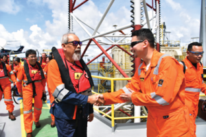 UMW's Head of Operations Izwan Megat (right) said he believes 2018 will be a busy year for the company. All seven UMW rigs are working in Malaysia, primarily for Petronas but also for Repsol and Hess. The company also anticipates starting operations for ConocoPhillips in Q2 this year, also in Malaysia.