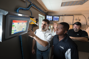 The need for increased competency among support personnel has expanded in recent years, along with the scope of real-time operations centers. Pictured is Canrig's Houston training center.