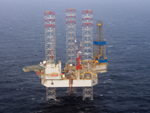 The Noble Hans Deul (left) and the Noble Lloyd Noble (right) are among the three jackups Noble has operating in the North Sea. The Noble Hans Deul is operating for Spirit Energy and the Noble Lloyd Noble for Equinor.