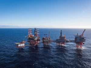 Aker BP plans to focus on growing production from three hubs, including the Valhall hub (pictured above), and building worker competencies.