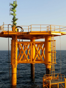 2H Offshore completes the installation of a retrofit conductor-supported platform.
