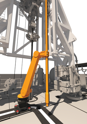 The Stinger can be set up to work in tandem with the Backer. This optional device allows the Stinger to carry the stands on the drill floor through a pre-established path, making for a hands-free operation.