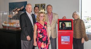 IADC donated a Drilling Matters kiosk to the Ocean Star Rig Museum in late June. From left are Bob Warren, IADC VP – Government & Industry Affairs Onshore; Anthony Garwick, IADC Director of Web and IT Services; Lisa Lisinicchia, Operations Director, Ocean Star Rig Museum; Mike Killalea, IADC Group VP and Publisher; and Sandra Mourton, Executive Director, Ocean Energy Center.