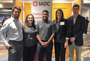 In April, five students from the IADC Student Chapter at the University of Louisiana at Lafayette (ULL) were invited to attend the 2018 SPE/IADC Managed Pressure Drilling & Underbalanced Operations Conference in New Orleans. Pictured are Damon Emmitt (from left), Allison Morency, Garrett Mallires, Kassie Comeaux and Colby Williford.
